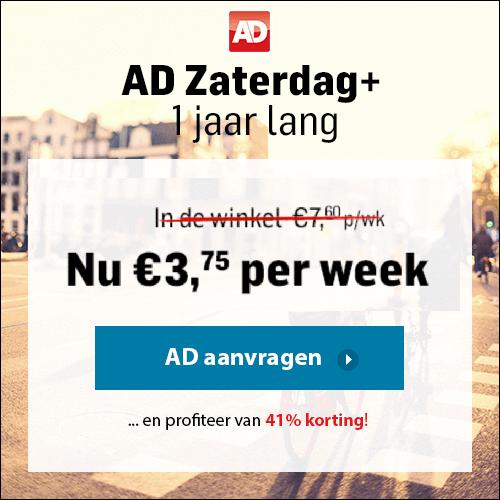 Neem het AD plusabonnement. Digitaal en zaterdag de papieren krant